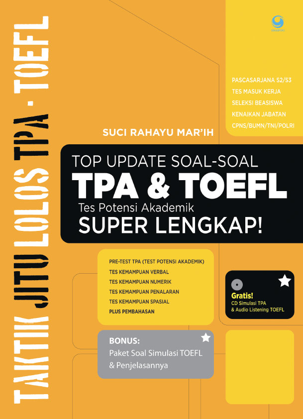 Top Update Soal-soal TPA & TOEFL Super Lengkap