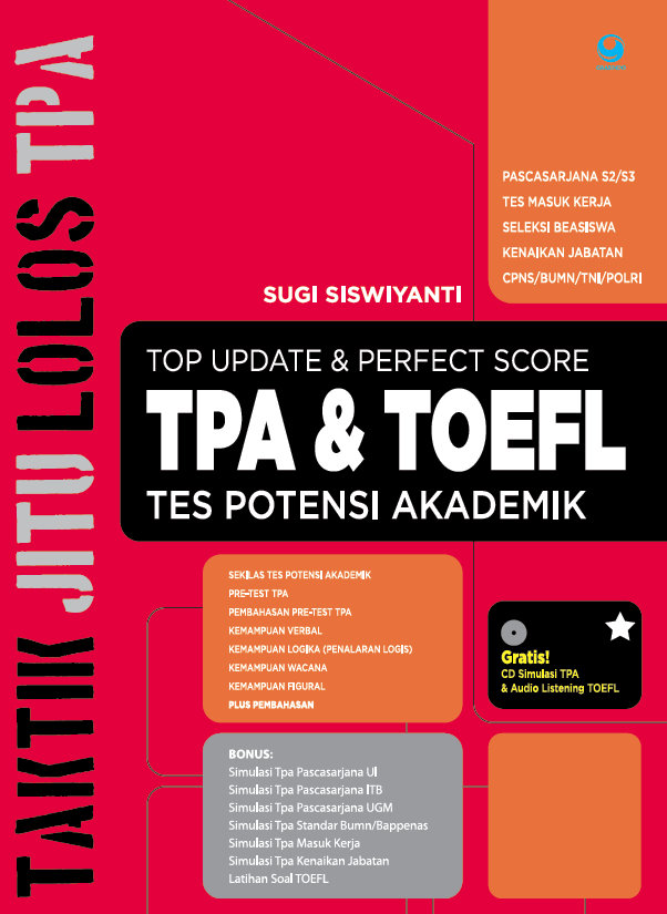 Top Update & Perfect Score TPA & TOEFL Tes Potensi Akademik