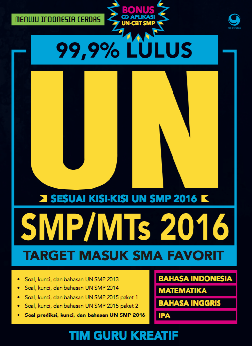 99.9% Lulus SMP/MTs 2016+CD