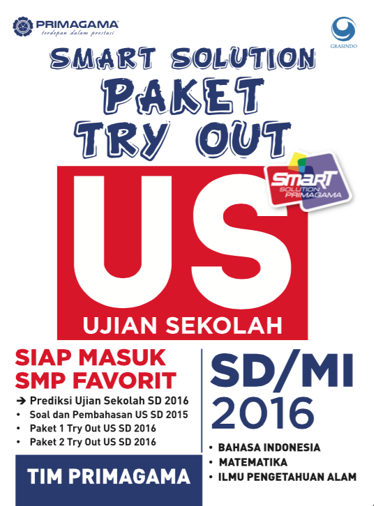 Primagama Smart Solution Paket Try Out US SD 2016